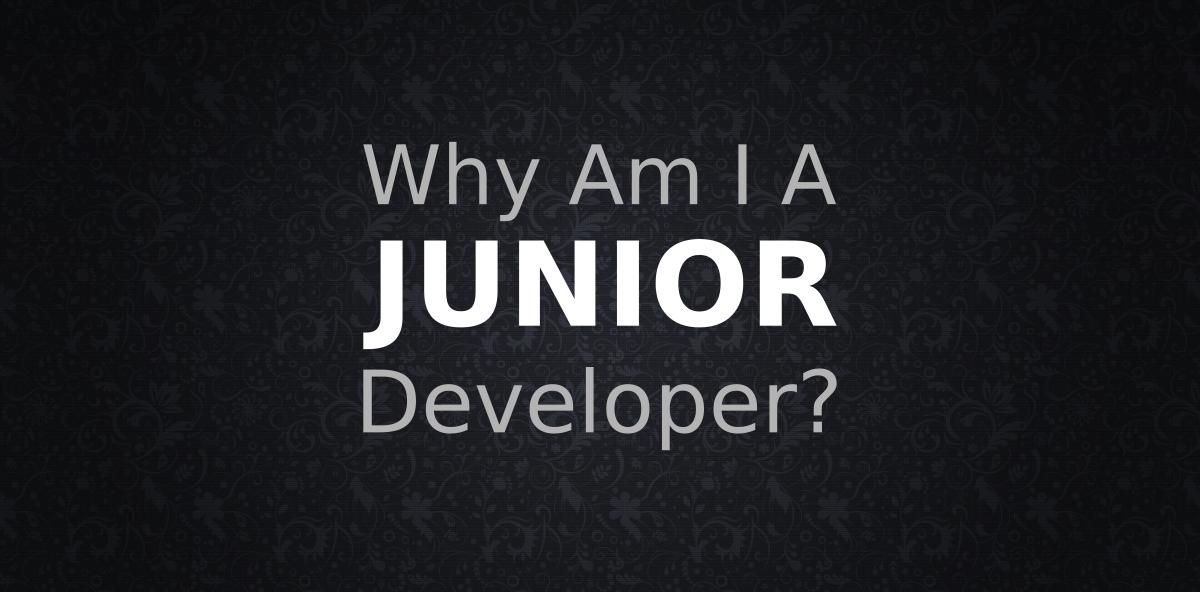 <span class='p-name'>Why Am I A Junior Developer?</span>